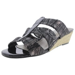 David Tate Womens Strappy Sandals Metallic Leather - 6 extra wide (e+, ww)