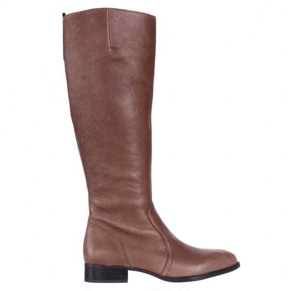 Nine West Womens Nicolah-Wide Calf Leather Pointed Toe Knee High Fashion Boots