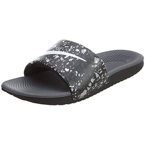 Nike Kawa Slide Big Kids (12 Little Kid M, Black/White-Dark Grey)