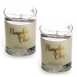 Pumpkin Chai Candle, Fall Decor, Premium Soy Blend Wax, USA (2 Pack)
