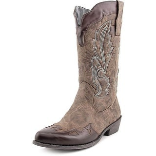 Dolce by Mojo Moxy Quiggly Women Pointed Toe Synthetic Brown Western Boot