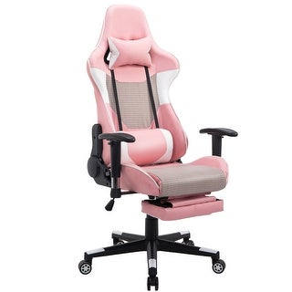 Costway Ergonomic Gaming Chair High Back Racing Office Chair W/Lumbar  Support U0026 Footrest