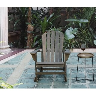 Adirondack Wooden Rocking Chair