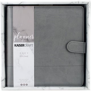 "Kaisercraft Journal Planner 9""X9""-Gray W/Stitched Accents"