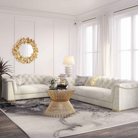 Farah Velvet Loveseat by Inspire Me Home Decor