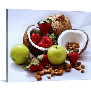 """Coconut Still Life"" Canvas Wall Art"