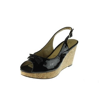 Trotters Womens Allie Platform Open Toe Wedges