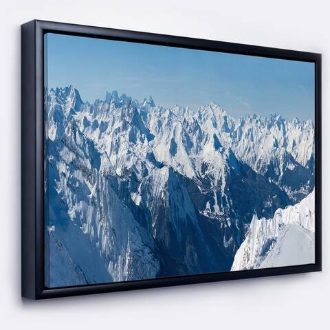 Designart 'French Alps Panorama' Photography Framed Canvas Art Print