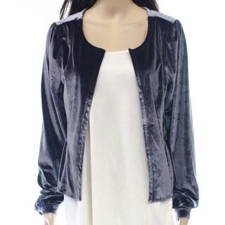 Original Frenchi NEW Gray Velvet Women's Size Large L Peplum Jacket