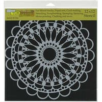 "Scalloped Mandala - Crafter's Workshop Template 12""X12"""
