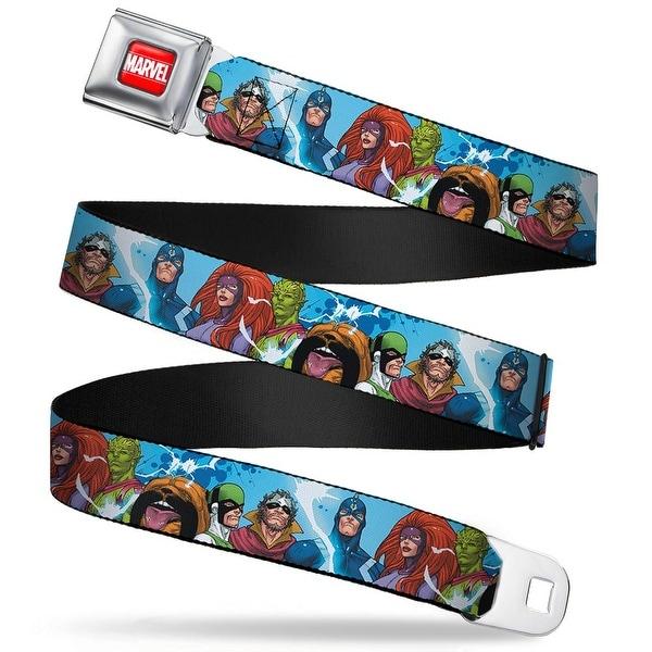 Marvel Universe Marvel Full Color Red White The Inhumans Groups Pose Blues Seatbelt Belt