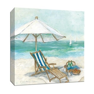 "PTM Images 9-147022  PTM Canvas Collection 12"" x 12"" - ""Tropical View I"" Giclee Beaches Art Print on Canvas"