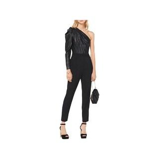 MICHAEL Michael Kors Womens Jumpsuit Shimmer One-Shoulder