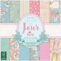"""Dovecraft Paper Pack 12""""X12"""" 36/Pkg-Couture Du Jour, 12 Designs/3 Each"""