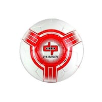 8304 Perrini Futsal - Official Size 4 Soccer Ball White & Red