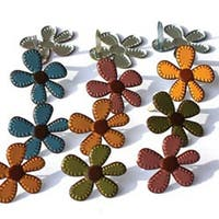 Stitched Flowers - Fall - Eyelet Outlet Shape Brads 12/Pkg