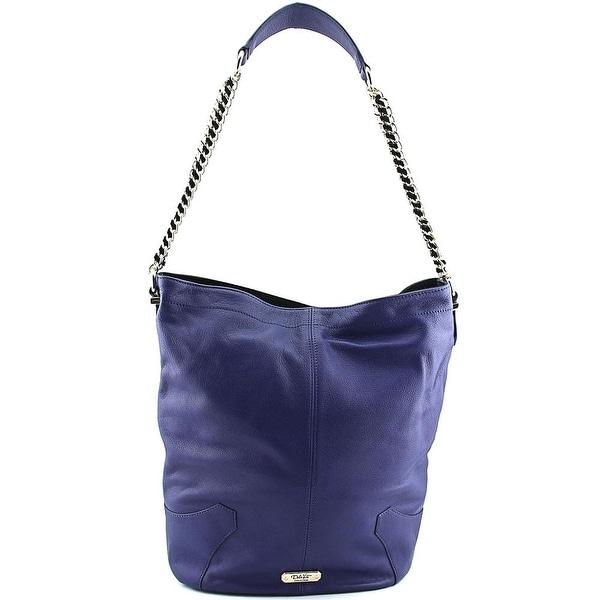 Dolce Vita Pebbled Hobo Women Leather Hobo - Blue