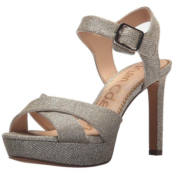 Sam Edelman Women's Jordan Heeled Sandal, Silver, Size 8.5