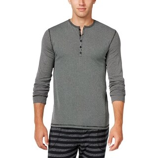 Kenneth Cole Reaction Mens Sleep Shirt Striped Henley
