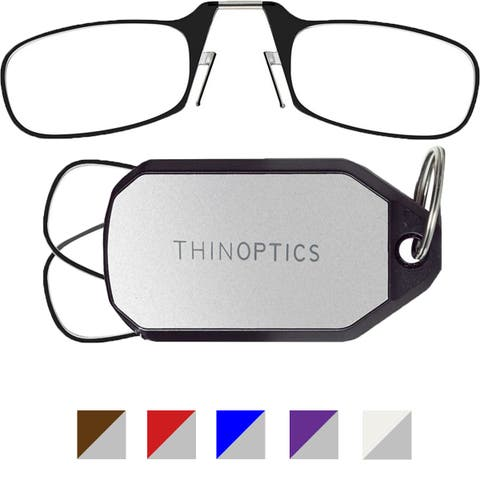 ThinOptics Secure Fit Armless Ultralight Reading Glasses with Keychain Case