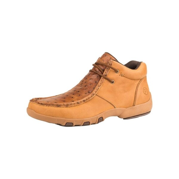 d346f4a6b97f Shop Roper Western Shoes Mens Moc Leather Ostrich Tan - Free Shipping Today  - Overstock - 27427494