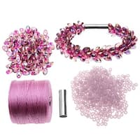 Refill - Deluxe Beaded Kumihimo Bracelet (Pink Iris) - Exclusive Beadaholique Jewelry Kit