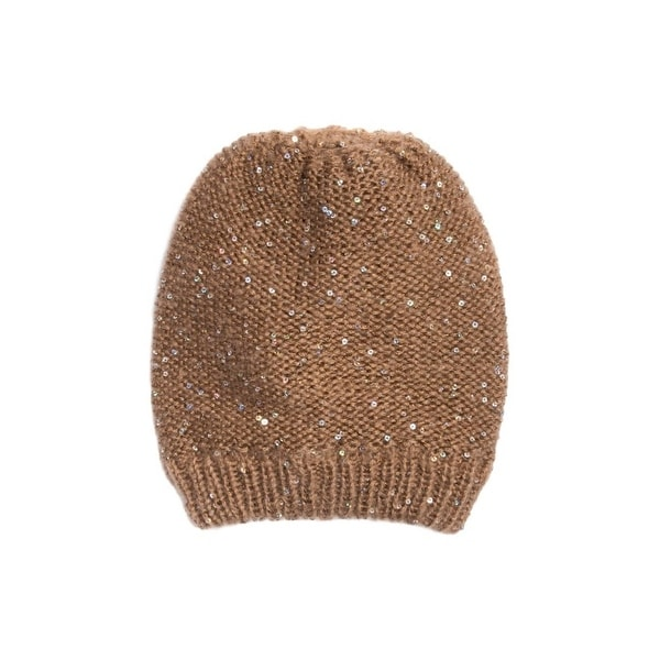 Shop Muk Luks Hat Womens Sequin Beanie Lightweight One Size Tan 00 - Free  Shipping On Orders Over  45 - Overstock - 18216153 10f7a47b276