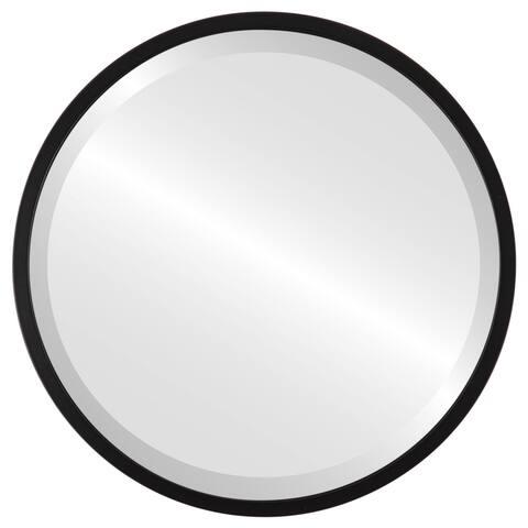 London Framed Round Mirror - Matte Black - Matte Black