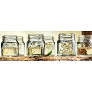 Palais 'Shots' Mason Jar Shot Glasses - Mini Shot Glass Cups - Holds 2.4 Oz - Set of 6 (Clear)