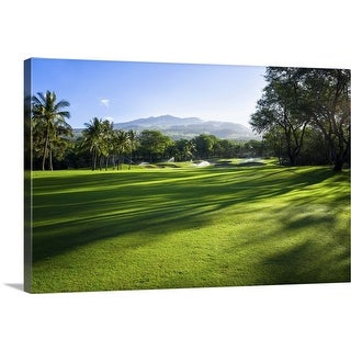 """Makena Golf Course in Makena Area of Maui, Hawaii"" Canvas Wall Art"