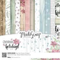 """Elizabeth Craft Modascrap Paper Pack 6""""X6"""" 12/Pkg-Christmas Holidays"""