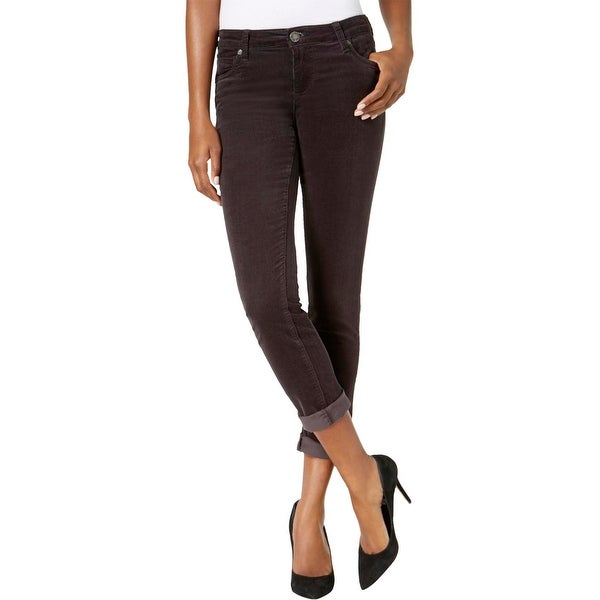Kut From The Kloth Womens Catherine Boyfriend Jeans Corduroy Ankle
