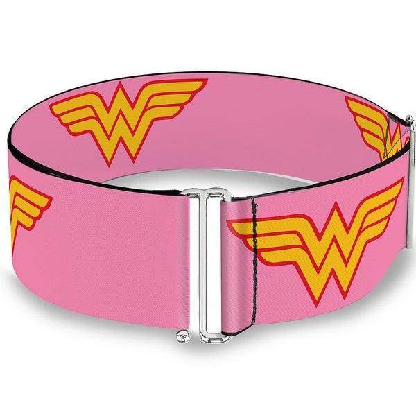 Wonder Woman Logo Pink Cinch Waist Belt ONE SIZE