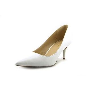 Nine West Margot Women Pointed Toe Leather White Heels