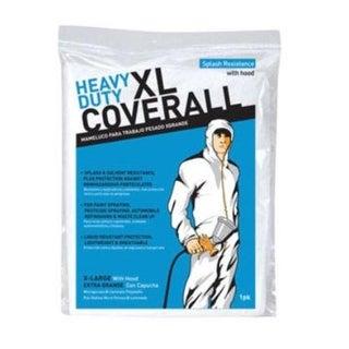 Trimaco 09961/12 Heavy Duty Coveralls, White, XL