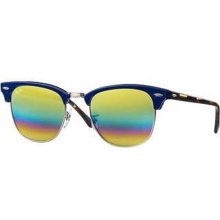 Ray-Ban Clubmaster Mineral Flash Lens 51mm Sunglasses (Gold Rainbow/Violet)