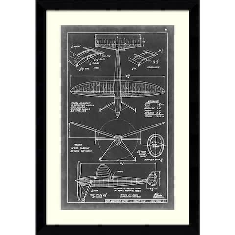 Framed Art Print 'Aeronautic Blueprint III' by Vision Studio 26 x 37-inch