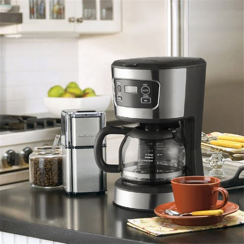 5-Cup Coffee Maker,Stainless Steel Coffee Brewer Machine - 8' x 11'