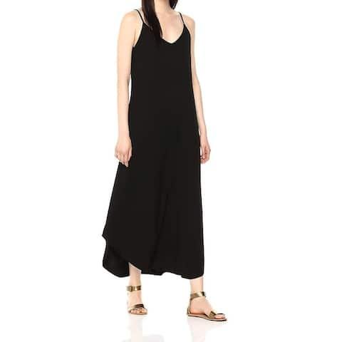 Michael Stars Women's Black Size XS V-Neck High Low Maxi Dress