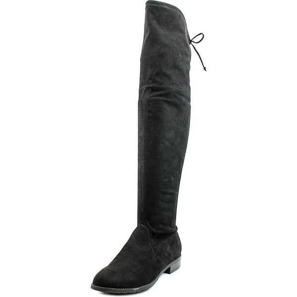 Unisa Adivan Women Round Toe Synthetic Black Knee High Boot