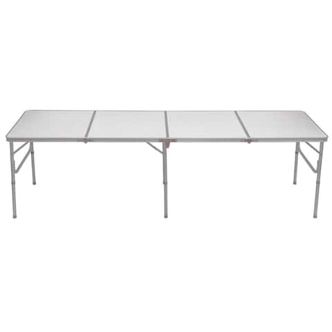 8' Aluminum Folding Picnic Camping Table - Silver