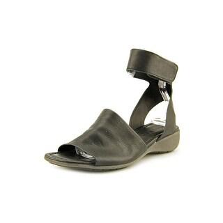 The Flexx Be Glad Women Open Toe Leather Black Gladiator Sandal