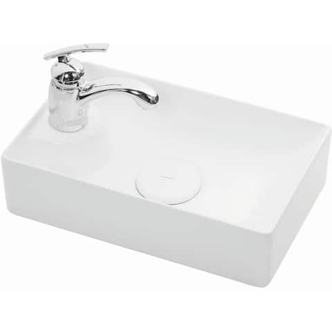 "WS Bath Collections Vision 16042 Vision 16-1/2"" Ceramic Single Hole - Gloss White"