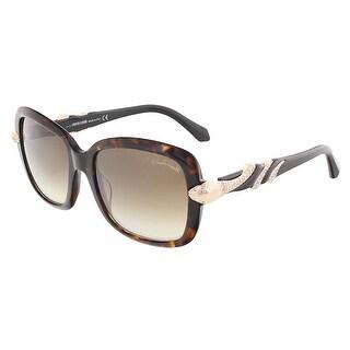 Roberto Cavalli RC879S/S 57G LESATH Havana Rectangle sunglasses - 56-19-135