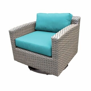 Miseno MPF-FLR055B-SC Northern Italy 29 Inch Tall Wicker Outdoor Swivel Chair