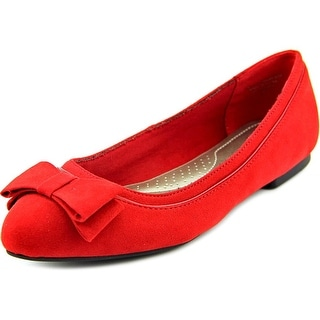 Karen Scott Chandii Women Round Toe Synthetic Red Ballet Flats