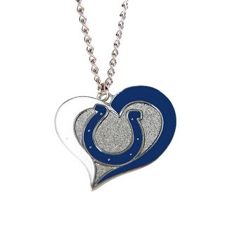 Indianapolis Colts NFL Swirl Heart Necklace
