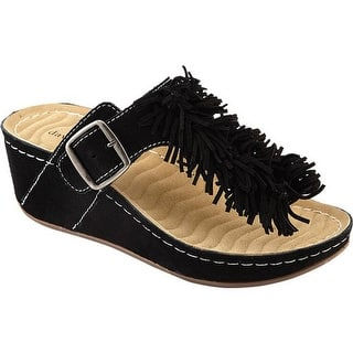 1ae057d2fb3 David Tate Women s Festive Thong Sandal Black Suede