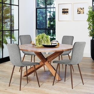 Link to Carson Carrington Mid-Century Modern Upholstered Dining Chairs (Set of 4) Similar Items in Kitchen & Dining Room Chairs
