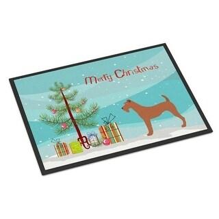 Carolines Treasures BB8438JMAT Irish Terrier Christmas Indoor or Outdoor Mat 24 x 36 in.